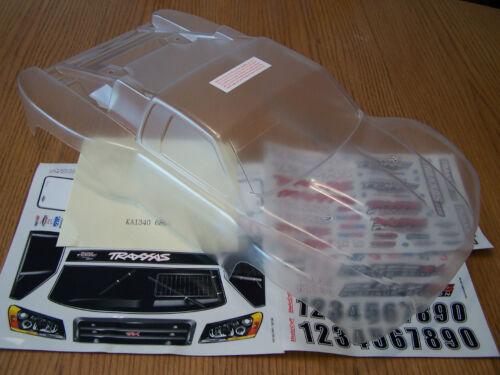Traxxas 1//10 Slash Clear Body w// Decals 6811 Fits all 4wd 2wd 4x4 6804 6807 6808