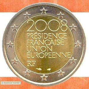 Sondermünzen Frankreich 2 Euro Münze 2008 Eu Ratspräsidentschaft