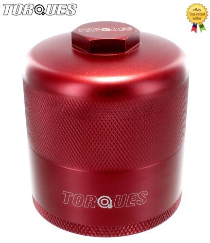 """Couples de billettes d/'aluminium d/'inspection réutilisable filtre à huile en rouge 3//4/"""" unf"""