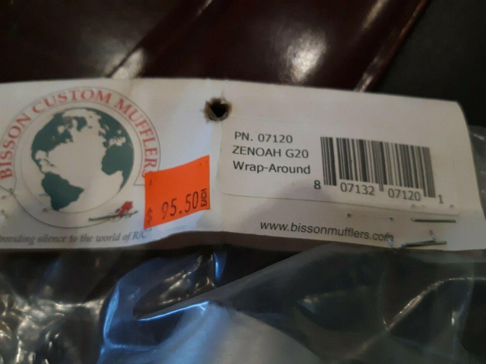 BISSON Personalizado SILENCIADOR PN 7120 ZENOAH G20 INverdeED envoltura alrojoedor de nuevo en el paquete.