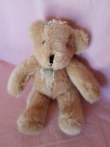 Stofftier Tier Teddy Bär Sitzbär Christine Orange  19 cm