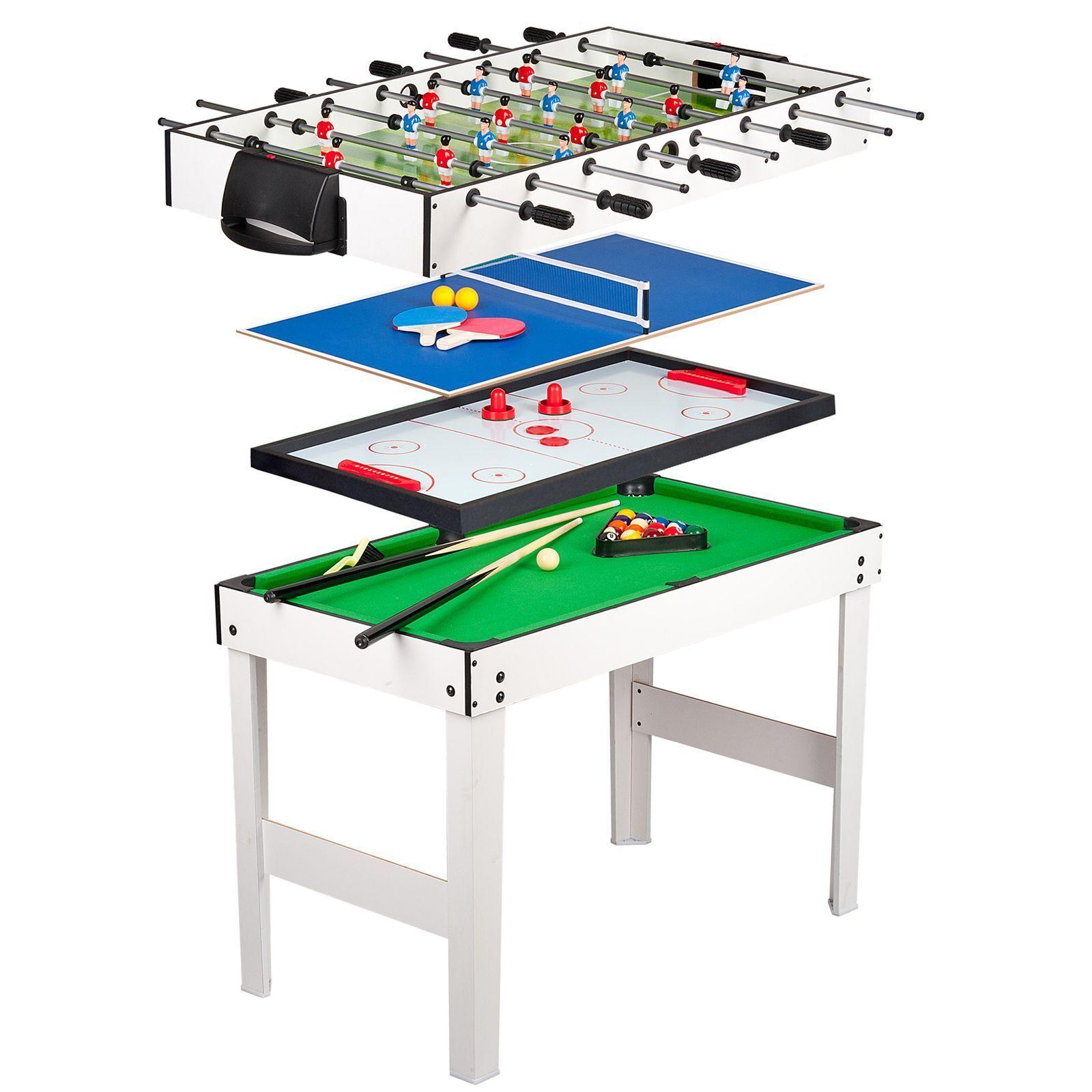 4 en 1 Juegos Kids Tabla-pool Hockey ping Pong Fútbol Nuevo