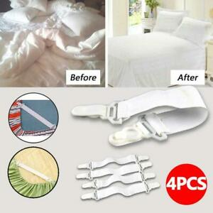 Bed Sheet Mattress Cover Blankets Home Grippers Clip Holder Fasteners Strap