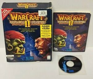 WARCRAFT-II-TIDES-OF-DARKNESS-VINTAGE-PC-VIDEO-GAME-BIG-BOX-1995-Tested-Works