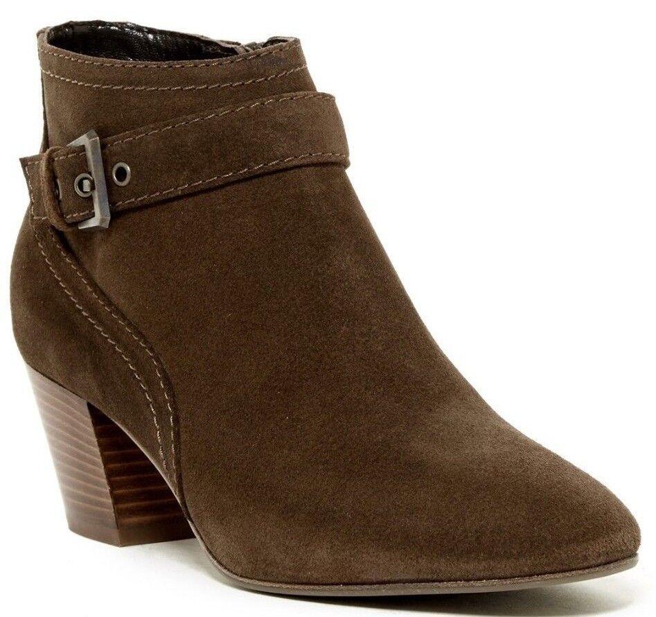 450 Aquatalia Femme Bootie Weatherproof Women`s Suede Ankle Boot Sz 9 M