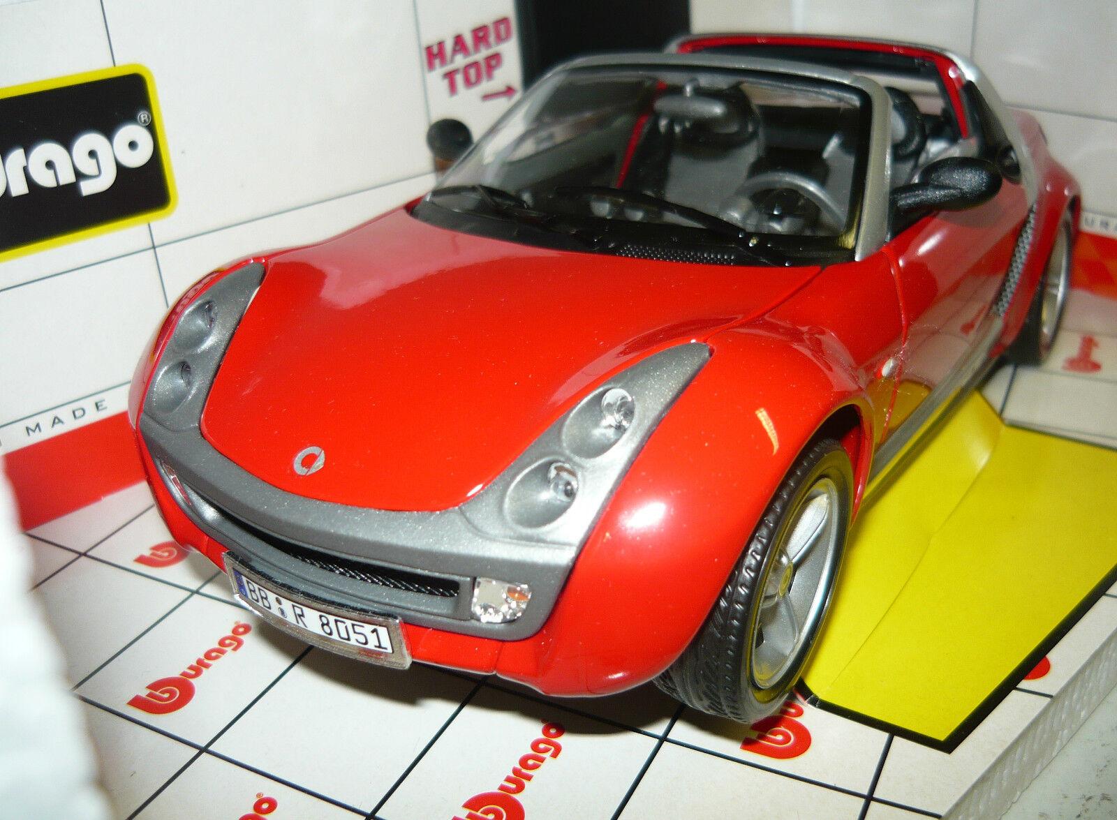 BBURAGO 34099, Smart Roadster, rosso, 1 18, 18, 18, neu&ovp c31ee0