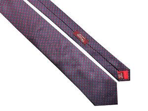 TM-LEWIN-Jermyn-Street-London-Mens-Classic-Blue-Red-Pattern-Silk-Tie-gt