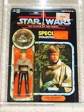 Vintage Star Wars 1985 AFA 80/85/85 LUKE SKYWALKER PONCHO POTF 92 BACK CARD MOC!