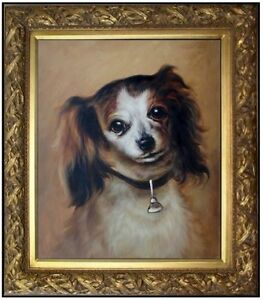 Framed-Hand-Painted-Oil-Painting-Repro-Auguste-Renoir-Head-of-a-dog-20x24in