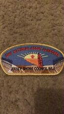 "JERSEY SHORE COUNCIL BSA 2010 NAT. SCOUT JAMBOREE 2""X5"" IRON ON PATCH NICE!"
