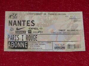 COLLECTION-SPORT-FOOTBALL-TICKET-PSG-NANTES-5-FEVRIER-2000-Champ-France