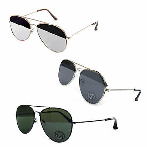 Sonnenbrille-in-Piloten-Aviator-Design-mit-Flat-Lens-Gaeser-Unisex