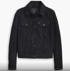 Brand New Levi´s  The Leather Trucker Black Size Small