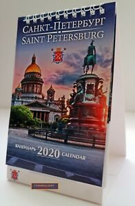 2020-SAINT-PETERSBURG-KALENDER-DESKTOP-LODGE-VON-RUSSLAND-WANDKALENDER-ORIGINAL