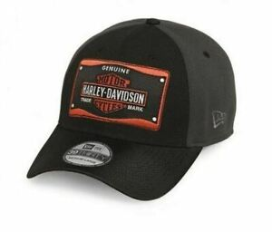 Harley-Davidson Cap 39THIRTY Genuine New Era 97711-16VM schwarz HD Logo orange