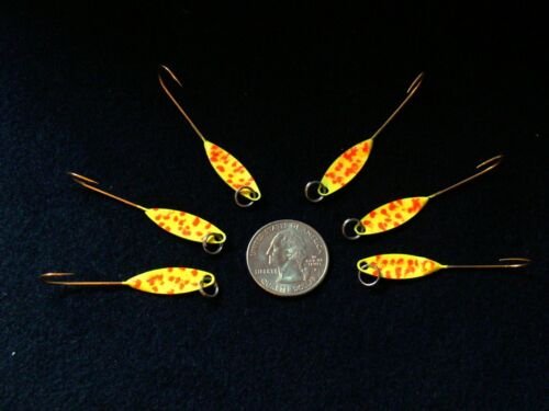6 Willow leaf // flutter spoon catches shad trout panfish etc walley herring