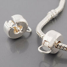 ANDANTE-STONES SILBER BEAD CLIP STOPPER + RING FÜR DANGLE CHARM #321 + GESCHENK