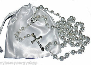 Image is loading First-Holy-Communion-Rosary-Beads-1st-Communion-Present-