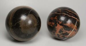 2 1 4 Decorative Black Marble Balls Set Of 2 Ebay