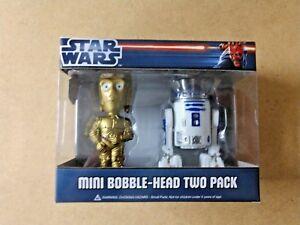 FUNKO-STAR-WARS-MINI-BOBBLE-HEAD-TWO-PACK-C-3PO-amp-R2-D2-NIB