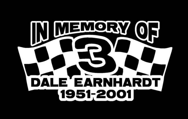 Dale Earnhardt Signature Vinyl Decal Sticker Autograph King Of NASCAR