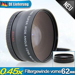 0-45x-Weitwinkel-Makro-Linse-58mm-f-Samsung-NX300-NX210-18-55mm-f-3-5-5-6-OIS