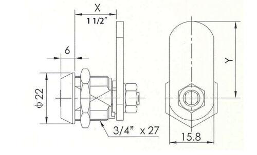 "KA 10pcs 7//8/"" tubular and 10pcs 1 1//2/"" lock; CHROME two key pull Special Offer"