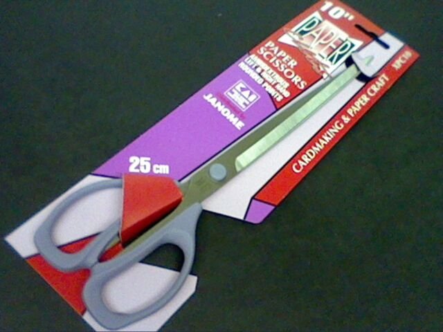 "JANOME SCISSORS 10""-25cm CARDMAKING-PAPER CRAFT-ALL PURPOSE -WORLD RENOWN-XPC10"