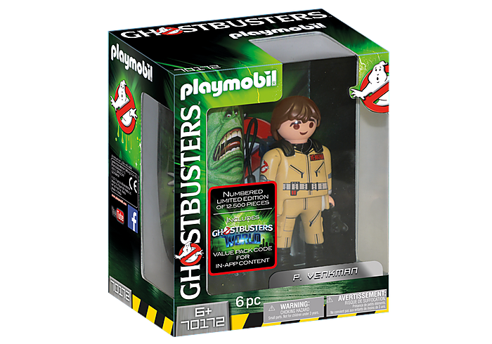 Playmobil 70172 Ghostbusters Collection Peter Venkman Figure MIB New