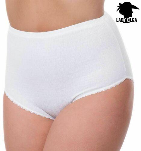 Mesdames Crinkle Slips Femme 3 Paires Coton Lycra Culotte Pantalon