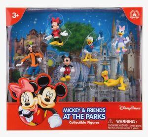Disney Parcs Mickey et Amis Figurine Topper Gâteau Set de Jeu Neuf avec Boîte