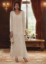 Ladies Midnight Velvet Plus Beaded Formal Swirl Jacket Dress 1X 189.00 NWOT