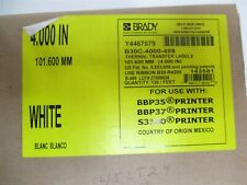 Brady B30c 4000 489 Ultra Aggressive Matte Polyester General Id Labels 130ft