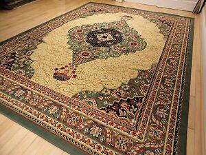 Large 8x11 Persian Rugs Green 5x8 Carpets 8x10 Cream