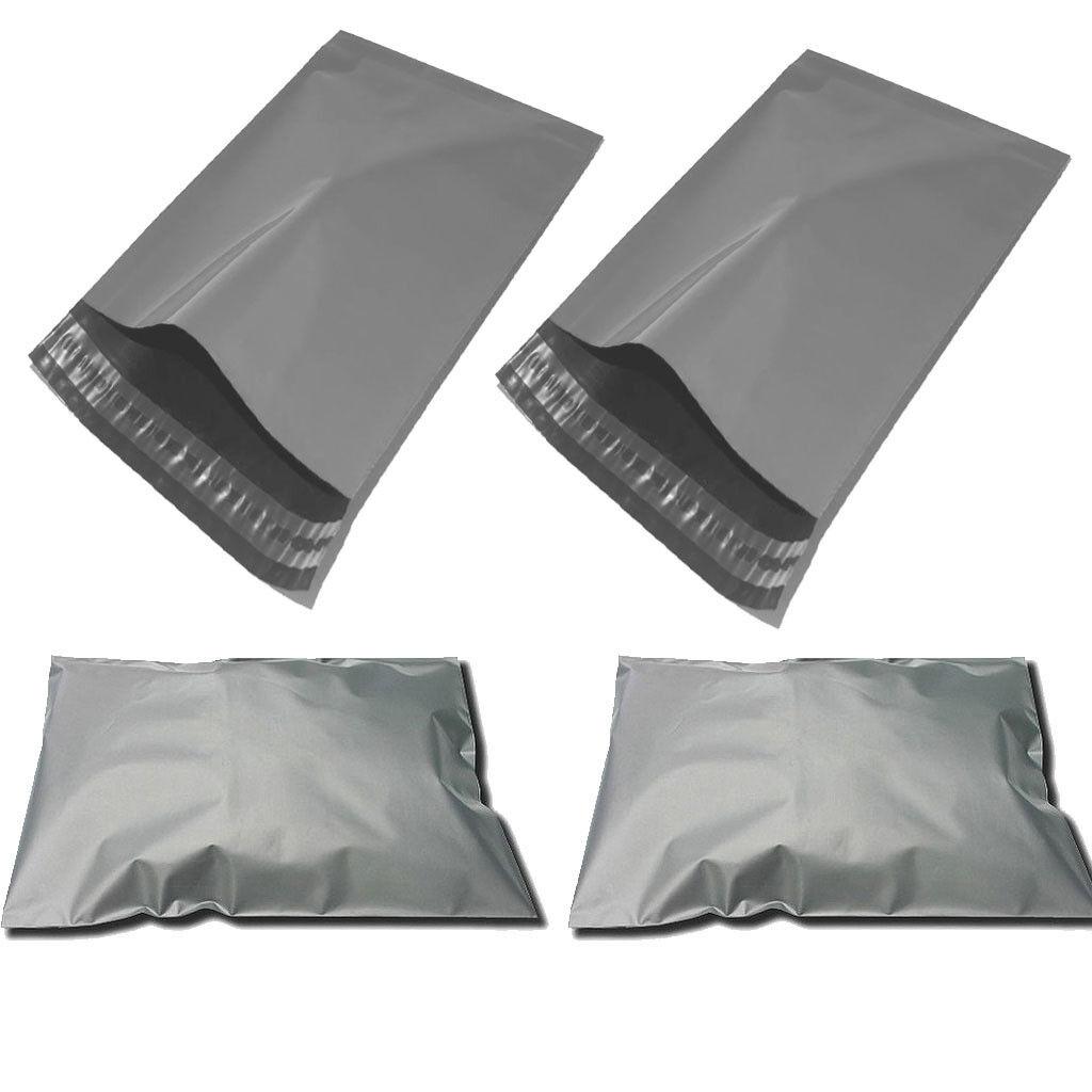 Premium Grey Mailing Bags Self Seal Poly Bags 10 x 14, x5 x10 x25 x50 x100 x250