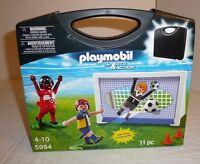 Playmobil Sports & Action Set 5994 Soccer Players Figures Net Balls Carry Case