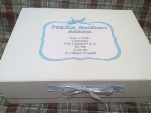 Extra Large Keepsake Box Christening New Baby Girl Boy Gift Present Baby shower