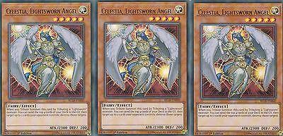 OfficiëLe Website Yugioh Card 3 X Celestia, Lightsworn Angel - Bllr-en040 Ultra