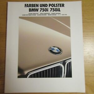 BMW E32 7 Series 750i 750iL Paint Colour Interior Upholstery Brochure Feb 1991 - Lincolnshire, United Kingdom - BMW E32 7 Series 750i 750iL Paint Colour Interior Upholstery Brochure Feb 1991 - Lincolnshire, United Kingdom
