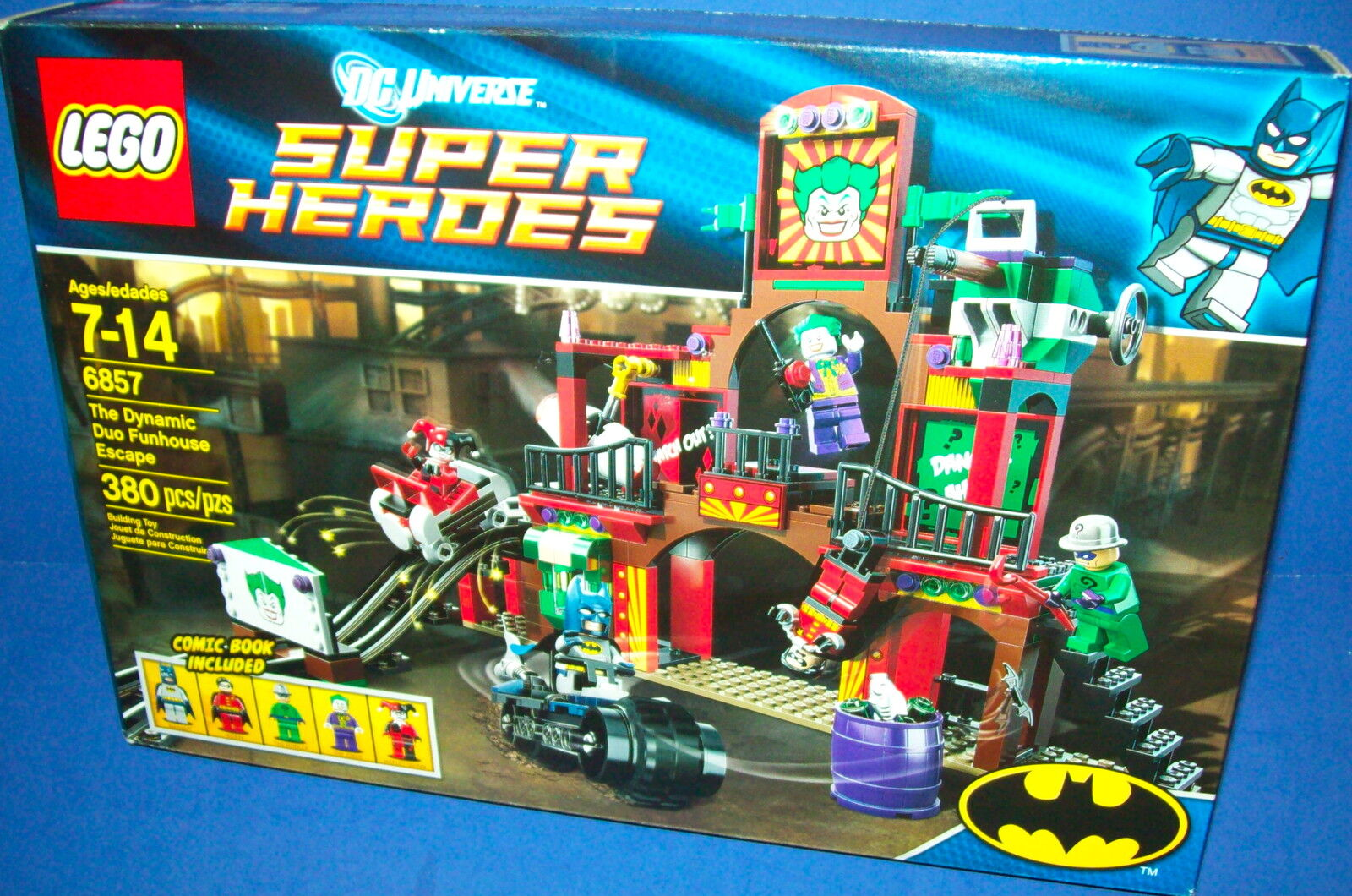 LEGO 6857 Super Heroes - The Dynamic Duo Funhouse Escape  BATMAN retirosso NIB TRU