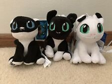 Build A Bear Nightlight SET OF 3 How To Train Your Dragon White Black Plushes