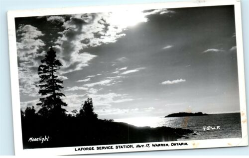 Laforge Service Station Hwy 17 Warren Ontario Canada Vintage Photo Postcard C89