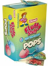 Charms Fluffy Stuff Cotton Candy Pops 48 ct