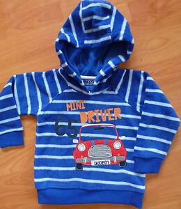 boys size 1 2 3 4 fleece jumper hoody sweater warm fleecy top MINOTI NEW