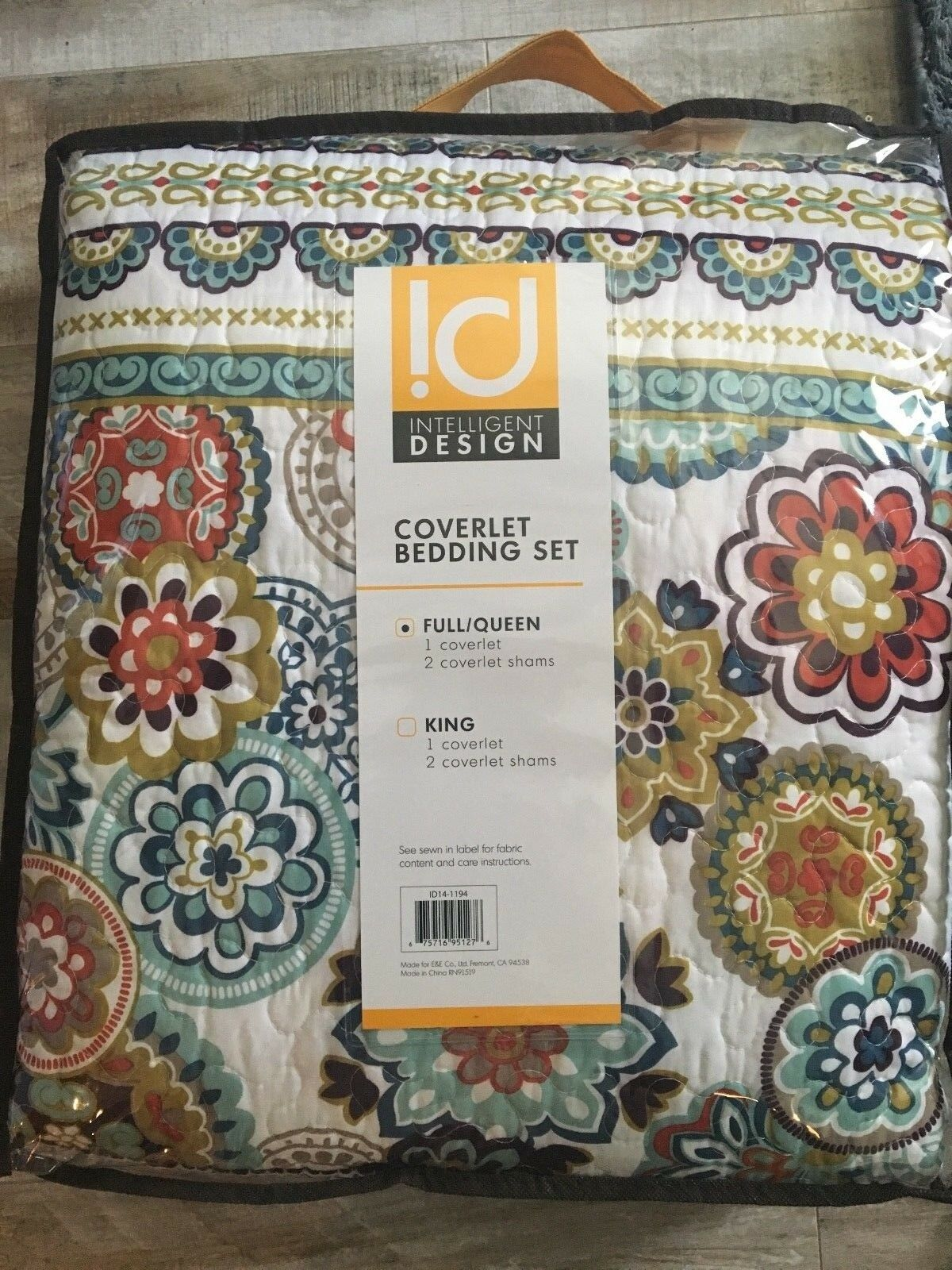 Beautiful Intelligent Design ID14-1194  Coverlet Bedding Set Full Queen
