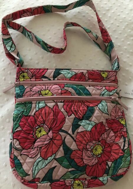 dc995d806b Vera Bradley Vintage Floral Triple Zip Hipster Crossbody Bag for ...