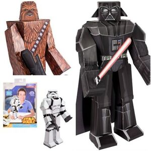"12/"" Darth Vader Pack Poseable Paper Craft Assemble Star Wars Blueprints"