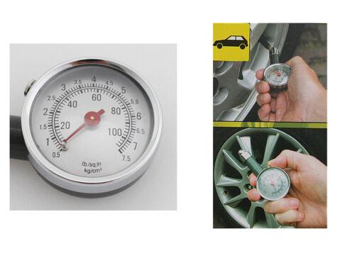 WOW Reifendruckmesser Reifenmessegerät  Druckluftprüfer Luftdruck bis 100 psi