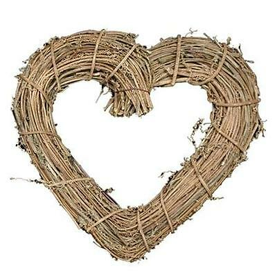 New Gisela Graham Natural Twig Heart Wreath Wedding Decoration Gift
