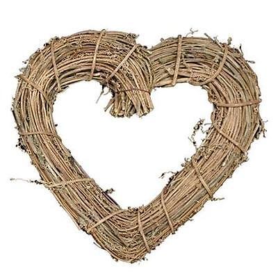 New Gisela Graham Natural Twig Heart Wreath Wedding Decoration Gift
